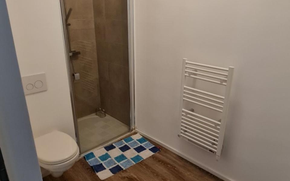 F2 meublé à louer l'Aparté salle de douche