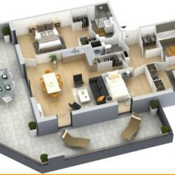 plan T4 programme immobilier neuf Ajaccio LE GENOVESE