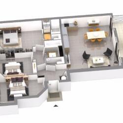 plan T4 programme immobilier neuf Ajaccio LE PARC IMPERIAL