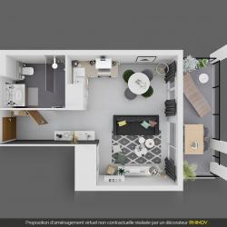 en corse ajaccio vente d 39 un appartement de type f1 dans programme immobilier neuf la palmeraie. Black Bedroom Furniture Sets. Home Design Ideas