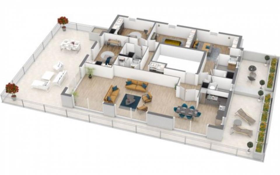 Les terrasses de Torretta 3D Penthouse