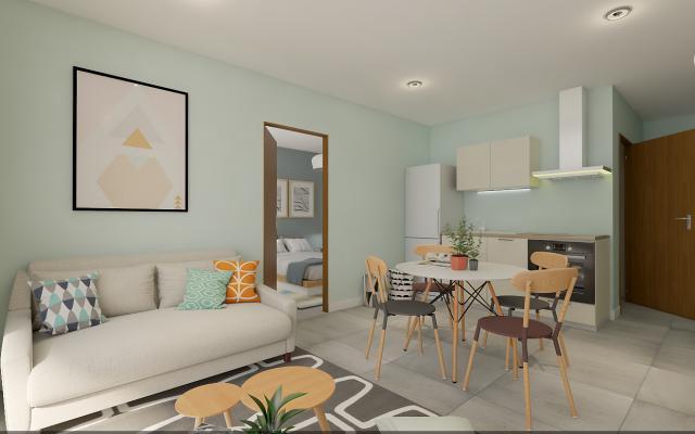 En Corse, à Ajaccio, Vente d'un T2, Programme Immobilier Neuf LA PALMERAIE