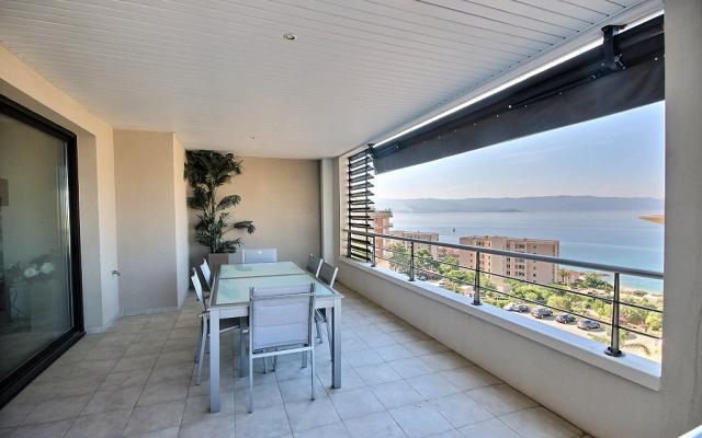 Terrasse vue mer, Appartement F4 à vendre, Sanguinaires, Ajaccio