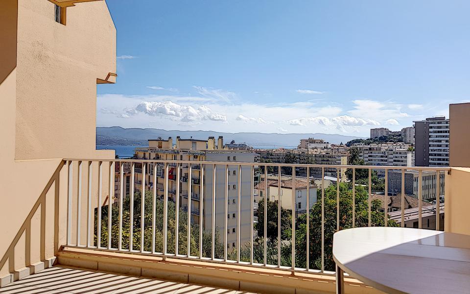 F3 meublé chemin de Biancarello vue depuis terrasse