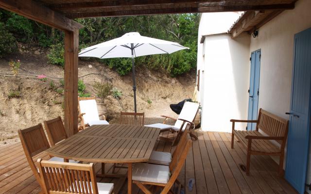 Terrasse,  Maison F3 à louer proche de Coti Chiavari