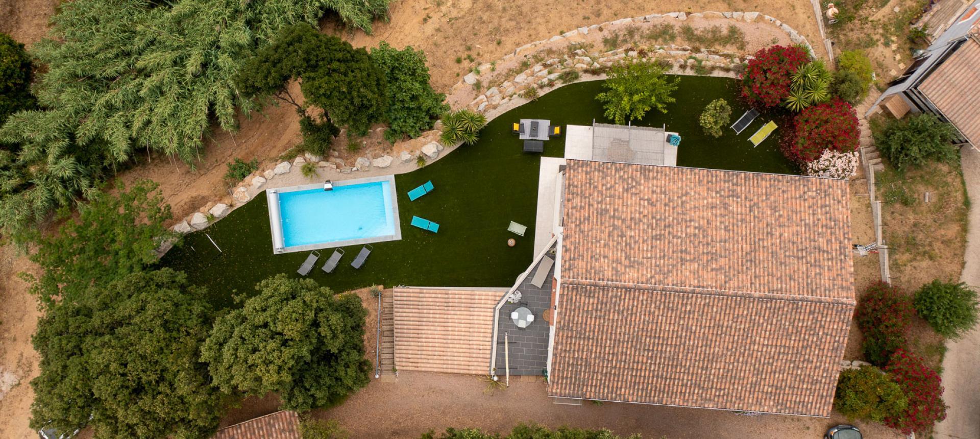 Villa à vendre proche Ajaccio - San Benedetto - Vue drone
