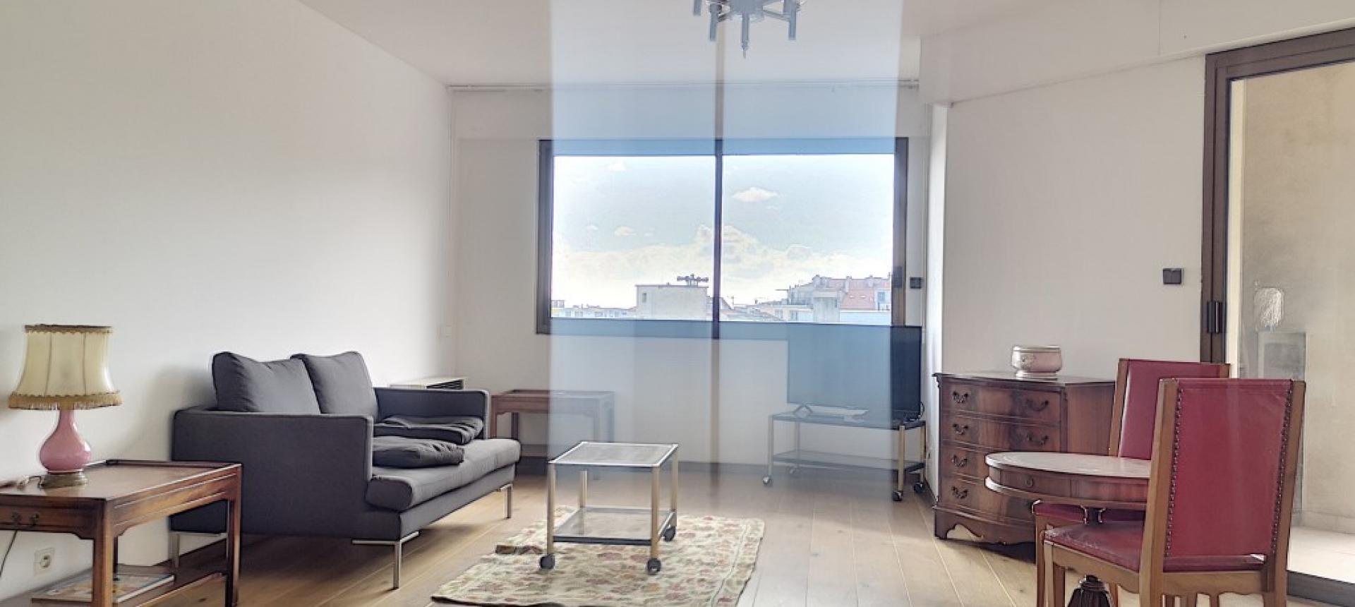 F3 meublé à louer FRED SCAMARONI séjour coin salon