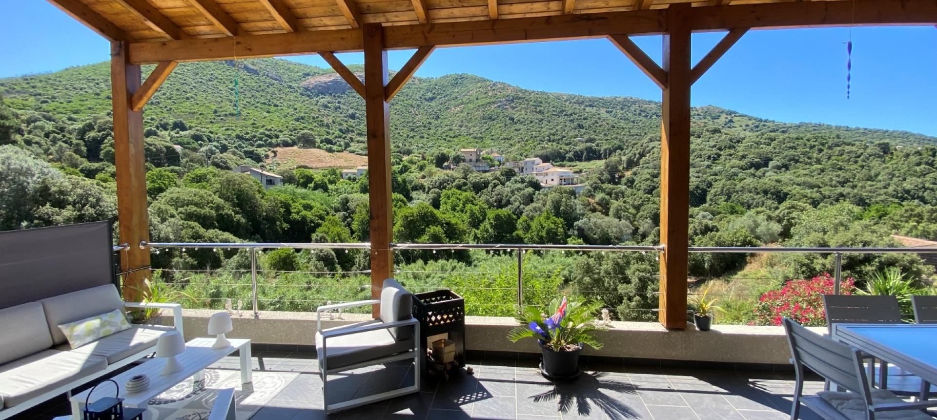Villa à vendre proche Ajaccio - San Benedetto - Vue terrasse 1 - RDC