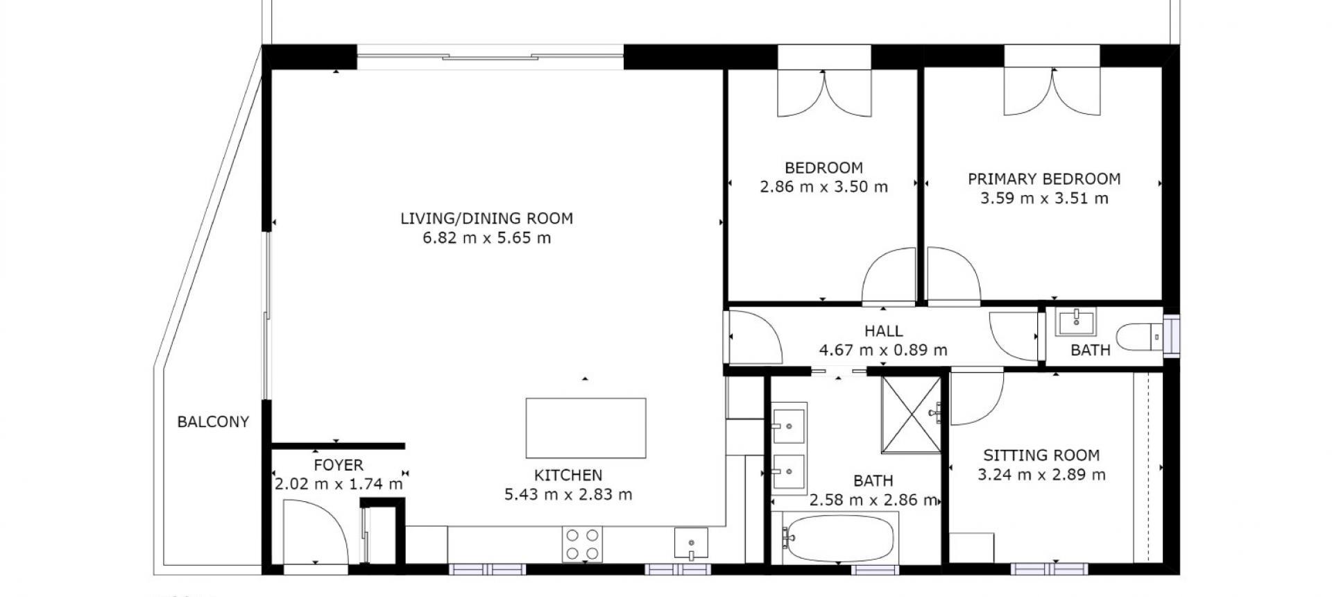 Villa à vendre proche Ajaccio - San Benedetto - plan rez-de-chaussée