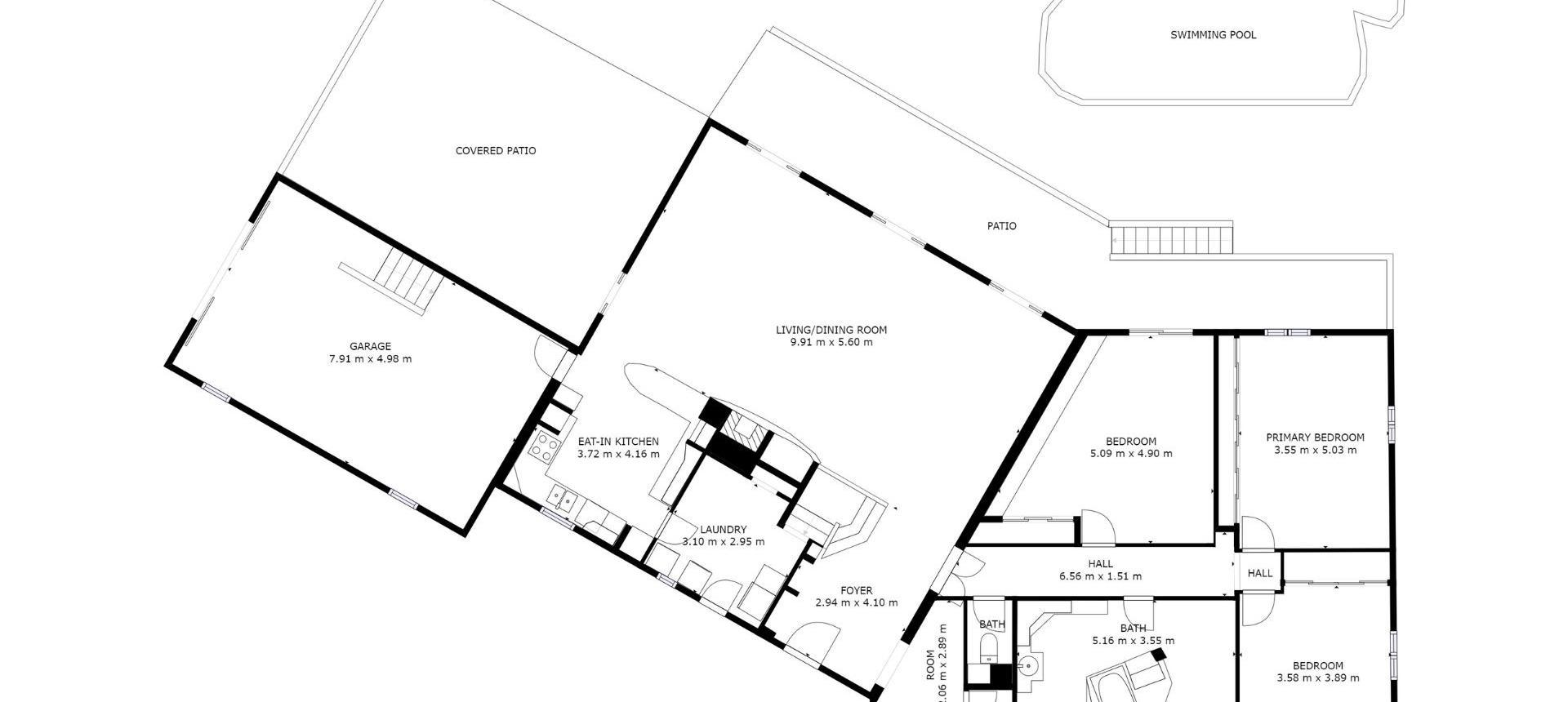 Plan RDC Villa à vendre avec vue dégagée proche Ajaccio - AFA