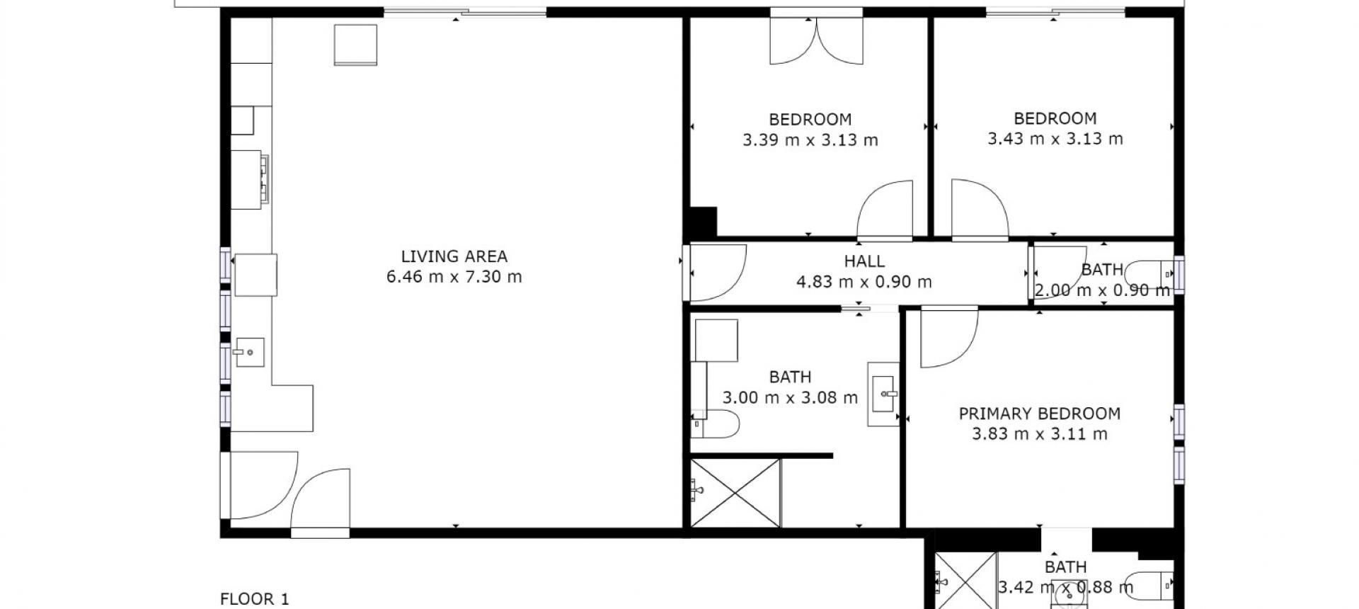 Villa à vendre proche Ajaccio - San Benedetto - plan rez-de-jardin