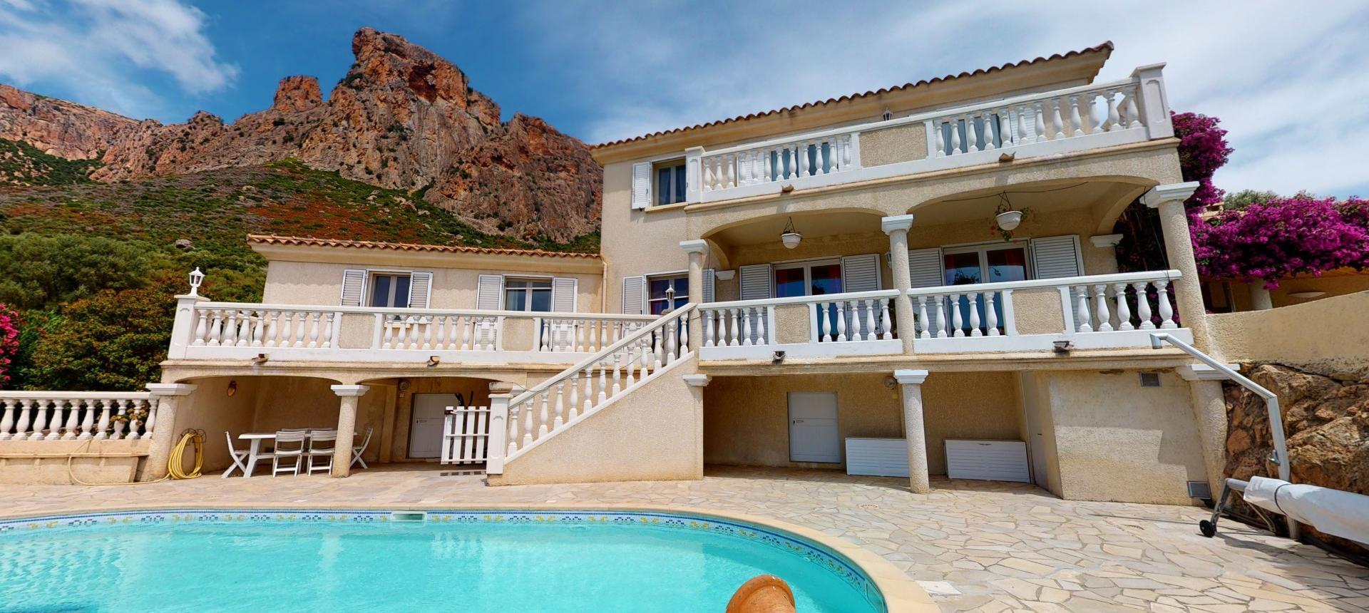 A vendre villa avec vue dégagée proche Ajaccio - AFA - VUE D'ENSEMBLE