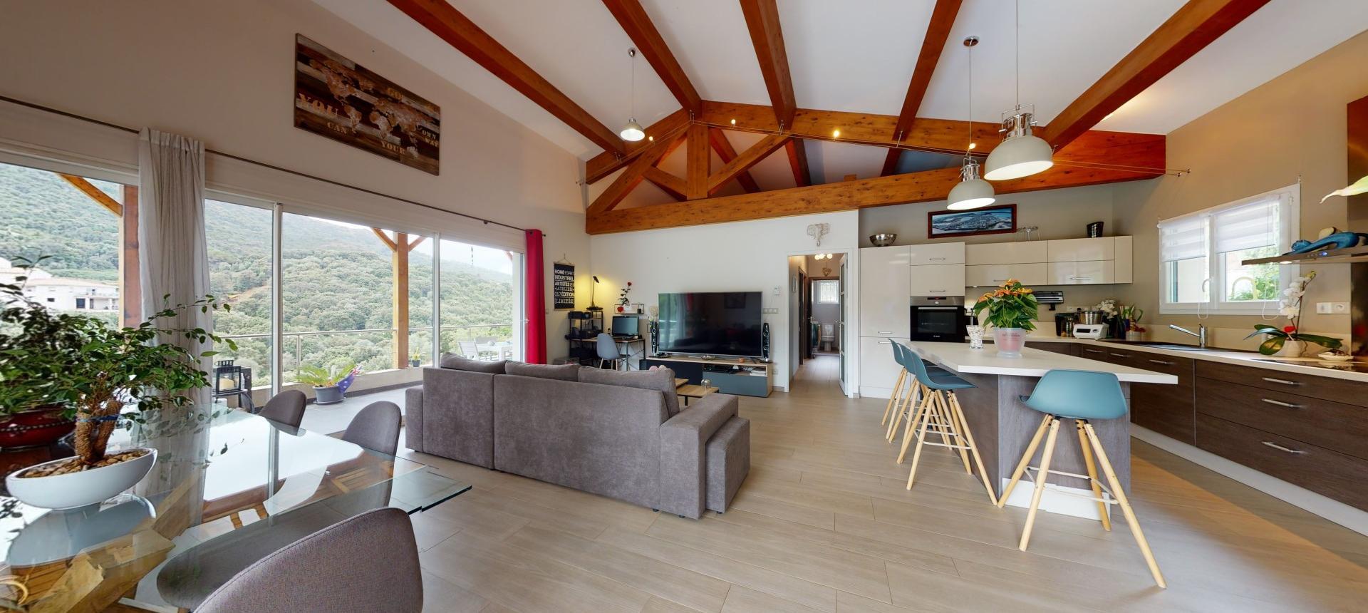 Villa à vendre proche Ajaccio - San Benedetto - Vue séjour - RDC
