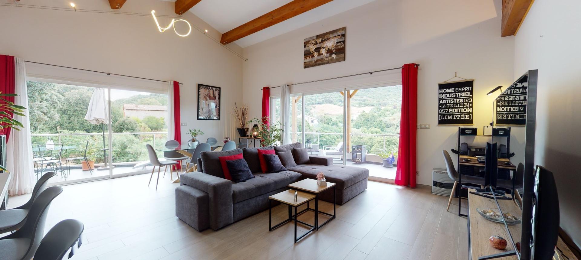 Villa à vendre proche Ajaccio - San Benedetto - Vue séjour 2 - RDC