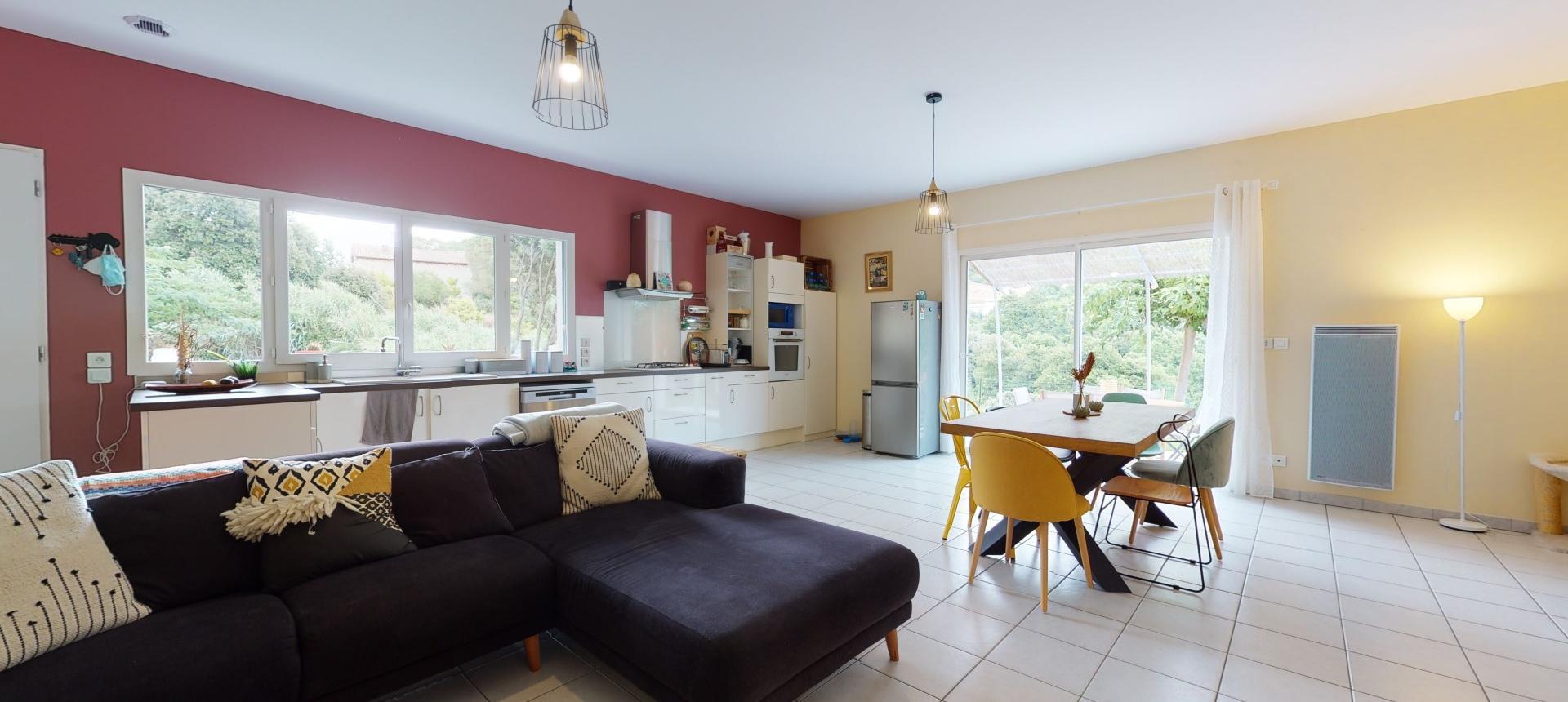 Villa à vendre proche Ajaccio - San Benedetto - Vue séjour - RDJ