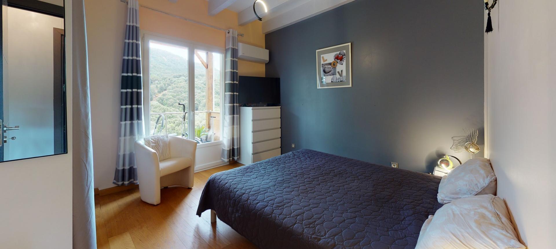 Villa à vendre proche Ajaccio - San Benedetto - Vue chambre 2 - RDC