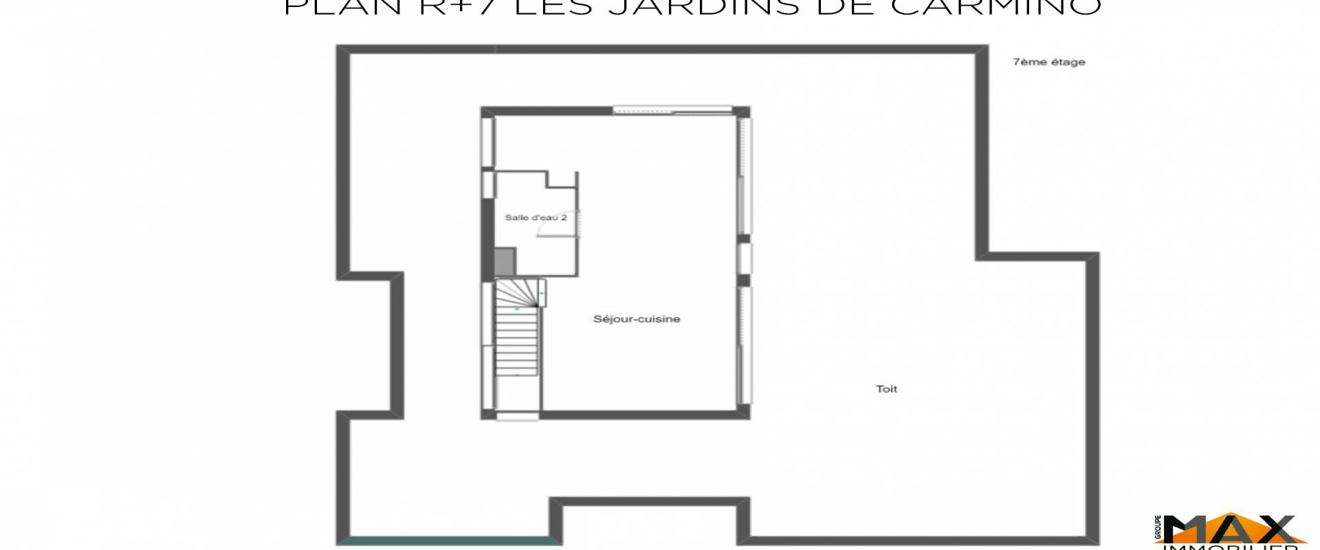 PLAN R+7 DUPLEX LES JARDINS DE CARMINO