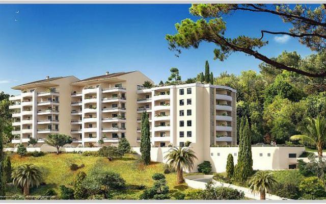 En Corse, à Ajaccio, Route des Sanguinaires, Vente d'un F4 dans programme immobilier neuf de standing LE PARC IMPERIAL