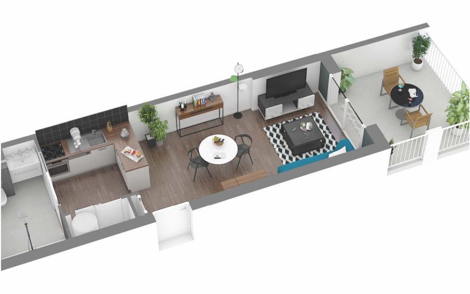 Vente appartement T1 neuf route des Sanguinaires Ajaccio « LE FRANCESCA »
