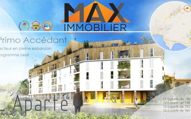 En Corse, à Ajaccio, vente d'un T3, Programme Immobilier Neuf L'APARTE