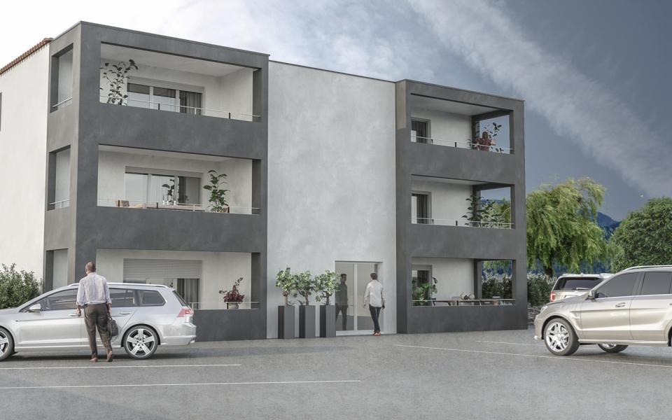 """A Ajaccio, à vendre T1 programme immobilier neuf """"LE TRETTORE"""", à la campagne et à quelques minutes du centre-ville, vente d'un appartement T1 avec terrasse"""