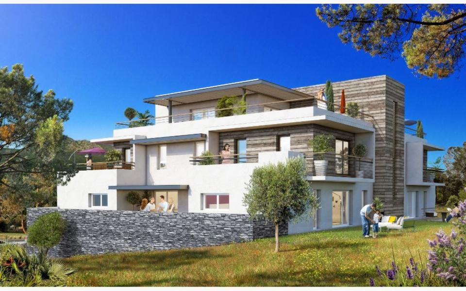 """En Corse, à Sainte-Lucie de Porto-Vecchio, un appartement T2 neuf - Programme """"THE BLACK LODGE"""""""