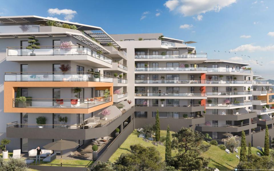 Programme immobilier neuf: RÉSIDENCE A TORRA - Votre nouvelle résidence de standing à l'entrée d'AJACCIO - Secteur ASPRETTO avec Vue mer